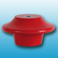 petticoat insulator in red polyester reinforced with fiberglass